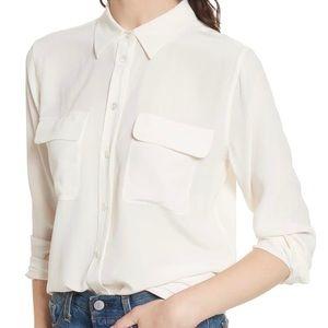 EQUIPMENT - Soft button down shirt Ivory white